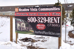 Meadow Vista Communities, real estate signage