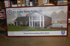 Phi Delta Theta Fraternity House Remodeling sign