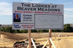 Ruhl & Ruhl signage for The Lodges and Beaver Meadows