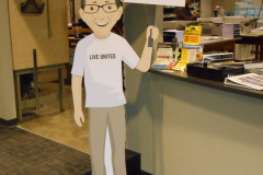 Cartoon cutout standee