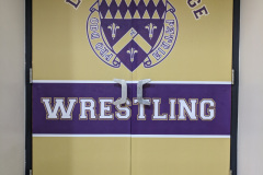 Loras College Wrestling door decals