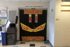 Double door decal for Marion High School Wrestling