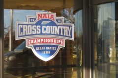 Welcome window decal, NAIA Cross Country Championships