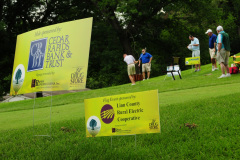 Signage for golf tournament