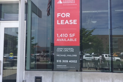 For lease window graphic