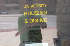 University Housing and Dining window decal