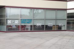 Window decals, storefront