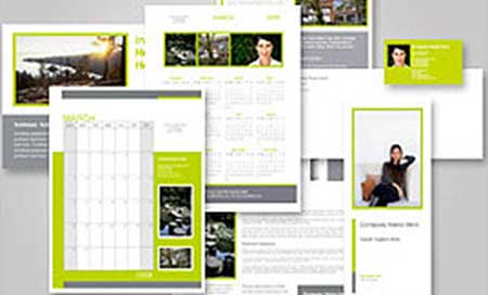 Business printing including business cards, calendars, stationary, brochures